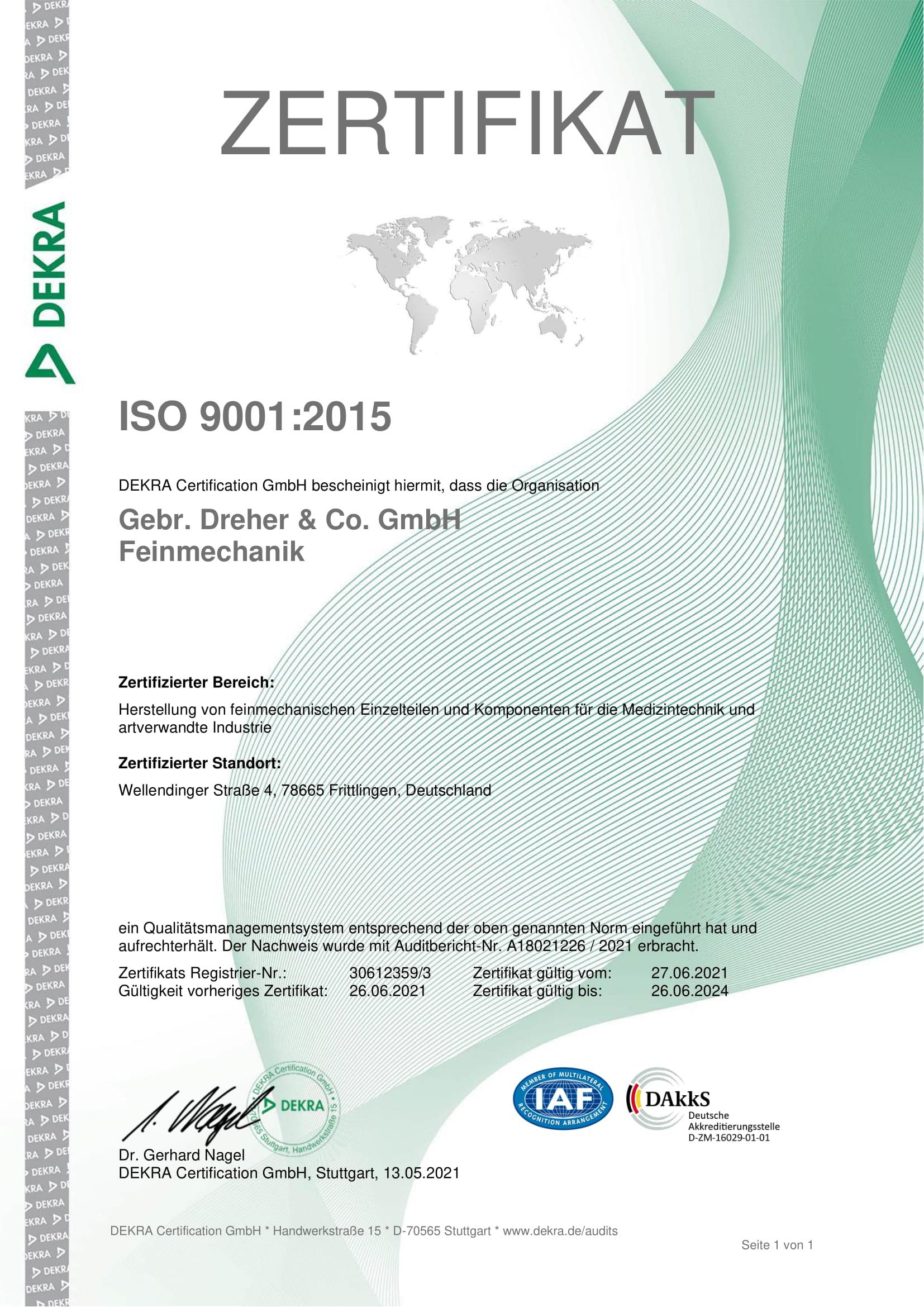 Zertifikat-9001